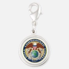 NOAA - Commissioned Corps Silver Round Charm