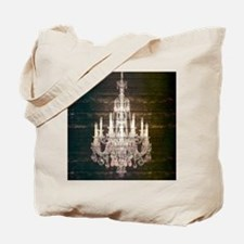Shabby Chic Chandelier Tote Bag