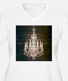 Shabby Chic Chandelier Plus Size T-Shirt