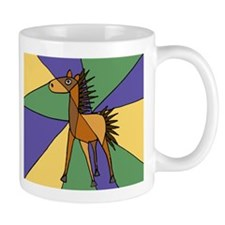 Colorful Horse Folk Art Mug