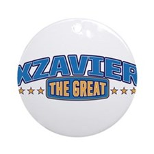 The Great Xzavier Ornament (Round)
