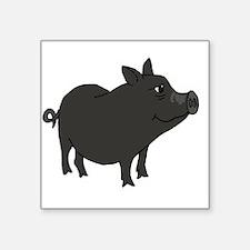 Funky Grey Pot Bellied Pig Sticker