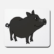 Funky Grey Pot Bellied Pig Mousepad