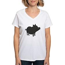 Funky Grey Pot Bellied Pig T-Shirt