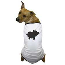 Funky Grey Pot Bellied Pig Dog T-Shirt