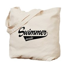 swimmer inside Tote Bag