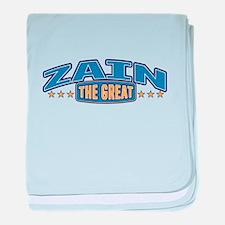 The Great Zain baby blanket