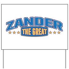 The Great Zander Yard Sign