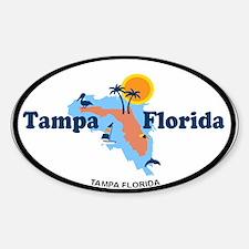 Tampa Florida - Map Design. Decal