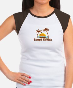 Tampa Florida - Palm Trees Design. Women's Cap Sle