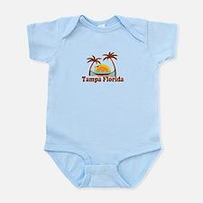 Tampa Florida - Palm Trees Design. Infant Bodysuit
