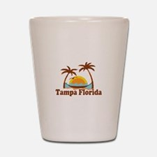 Tampa Florida - Palm Trees Design. Shot Glass