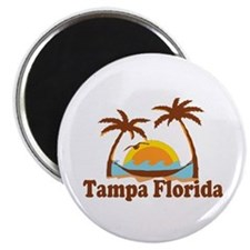 Tampa Florida - Palm Trees Design. Magnet