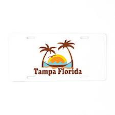 Tampa Florida - Palm Trees Design. Aluminum Licens