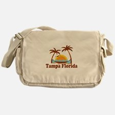 Tampa Florida - Palm Trees Design. Messenger Bag