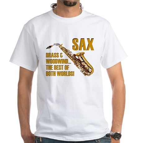 Sax - The Best of Both Worlds White T-Shirt