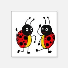 Funny Ladybugs Dancing Sticker