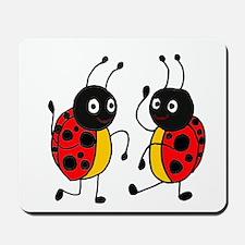 Funny Ladybugs Dancing Mousepad