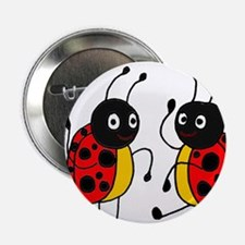 """Funny Ladybugs Dancing 2.25"""" Button"""