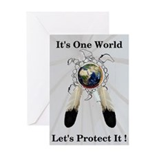 One World Logo Greeting Card