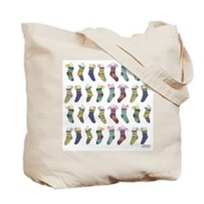 Cynthia Bainton Christmas Socks Tote Bag