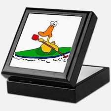 Funny Duck Kayaking Keepsake Box