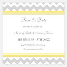 Chevron Save the Date 5.25 x 5.25 Flat Cards
