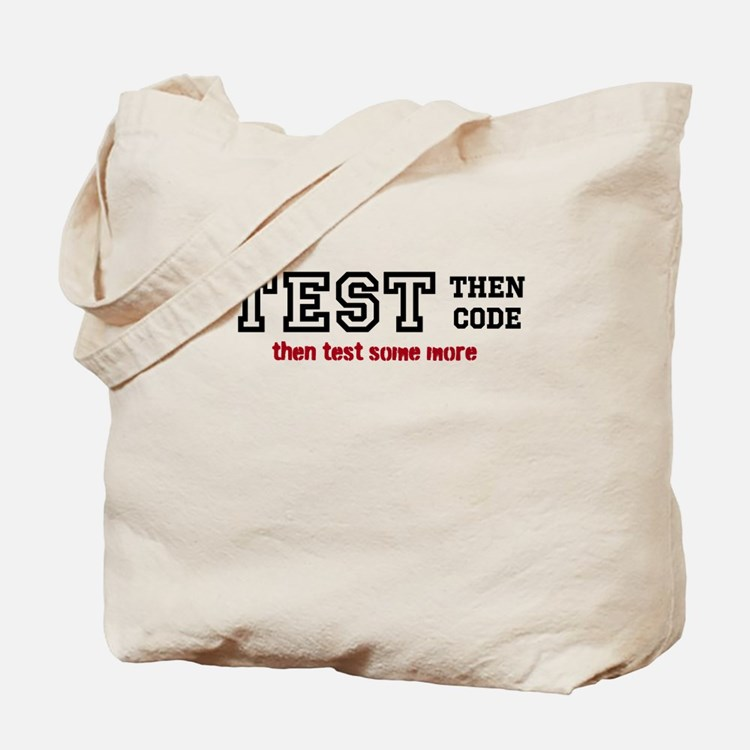 test then code Tote Bag
