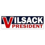 V for Vilsack: President! bumper sticker