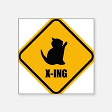 Cat Crossing Sticker