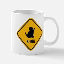 Cat Crossing Mug