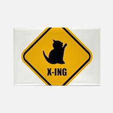 Cat Crossing Rectangle Magnet