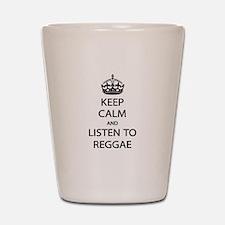 Listen Reggae Shot Glass