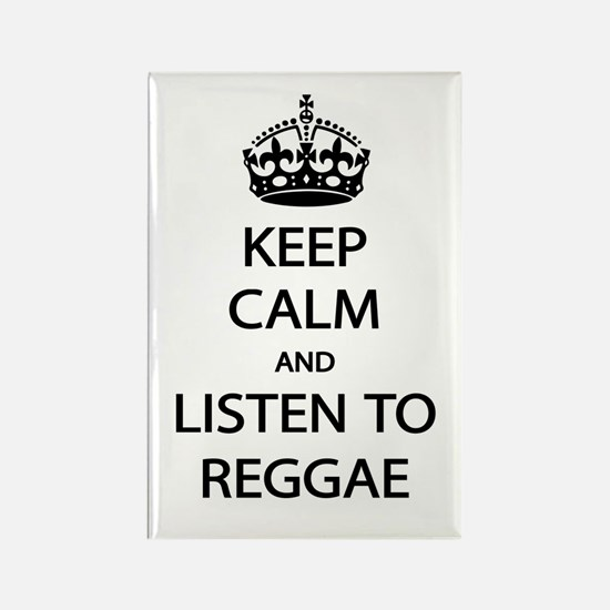 Listen Reggae Rectangle Magnet