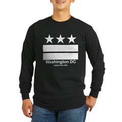 Washington DC Capital City Long Sleeve Black