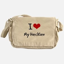 I Love My Heckler Messenger Bag