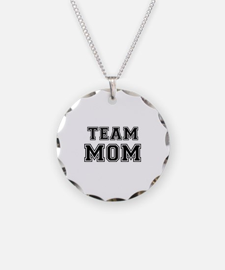 Team mom Necklace Circle Charm