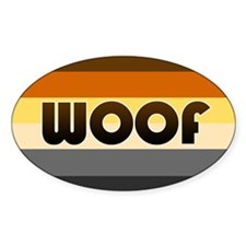 Bear 'Woof' Decal