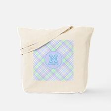 Monogram Soft Plaid Tote Bag