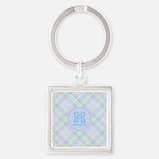 Monogram Soft Plaid Square Keychain