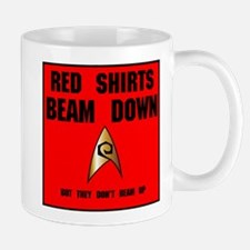 Red Shirts beam down Mug