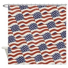 American Flag Pattern Shower Curtain