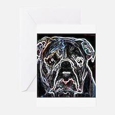 Neon Bulldog Greeting Cards (Pk of 10)