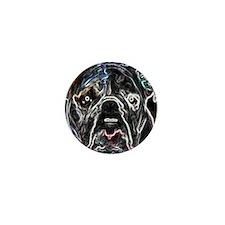 Neon Bulldog Mini Button