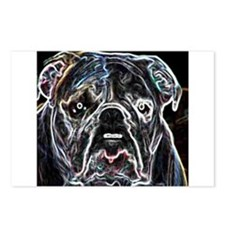 Neon Bulldog Postcards (Package of 8)