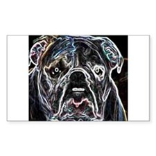 Neon Bulldog Rectangle Decal