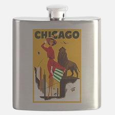 Vintage Chicago Illinois Travel Flask