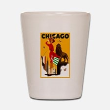 Vintage Chicago Illinois Travel Shot Glass