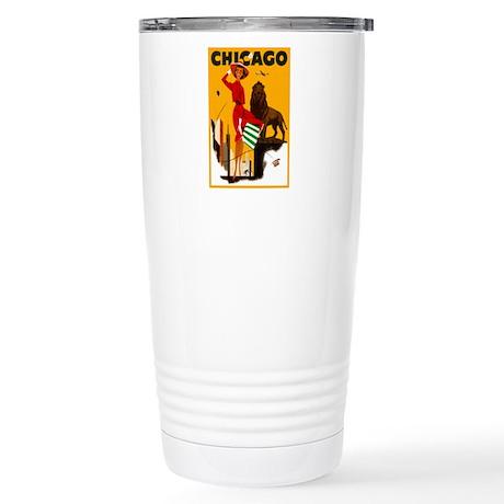 Vintage Chicago Illinois Travel Travel Mug