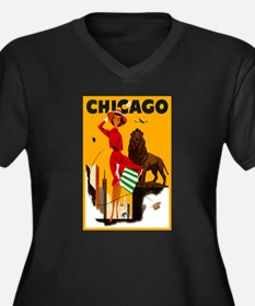 Vintage Chicago Illinois Travel Plus Size T-Shirt